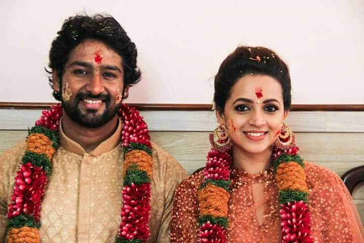 Kerala actress Bhavana engagement photos