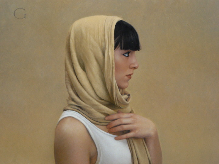 11-Rebecca-David-Gray-Lost-in-Thought-Realistic-Oil-Paintings-www-designstack-co