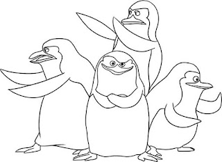 Ausmalbilder Die Pinguine aus Madagascar
