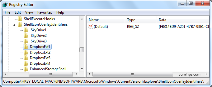 DropboxExt1 Registry