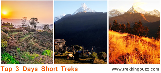 Top 3 Days Short Treks in Nepal