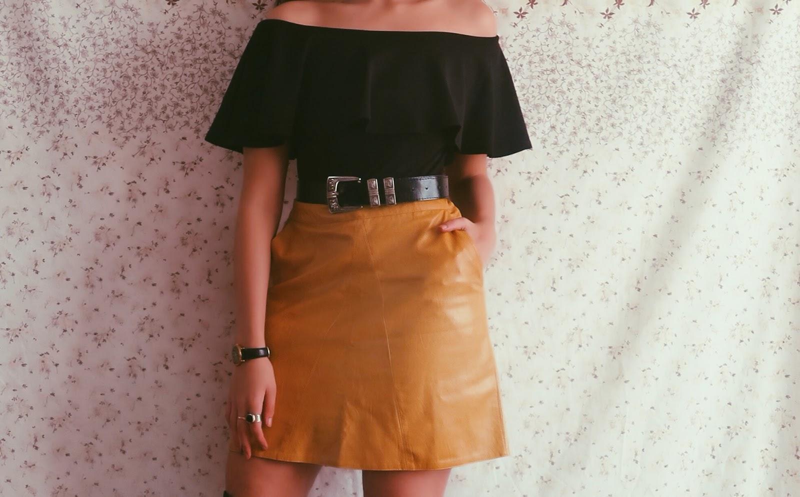 yellow skirt style british fashion blogger @ hayleyeszti