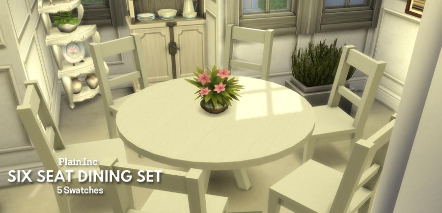 Six Seat Round Dining Set Simlish Designs