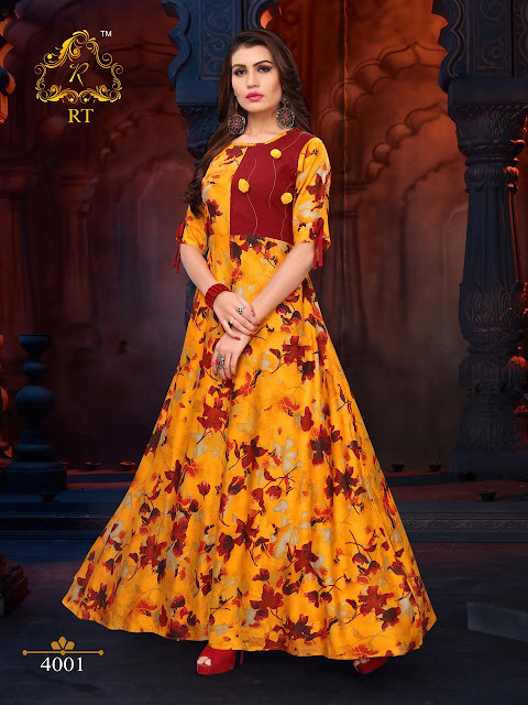 rt Glare Party wear indo western Gown Style kurtis