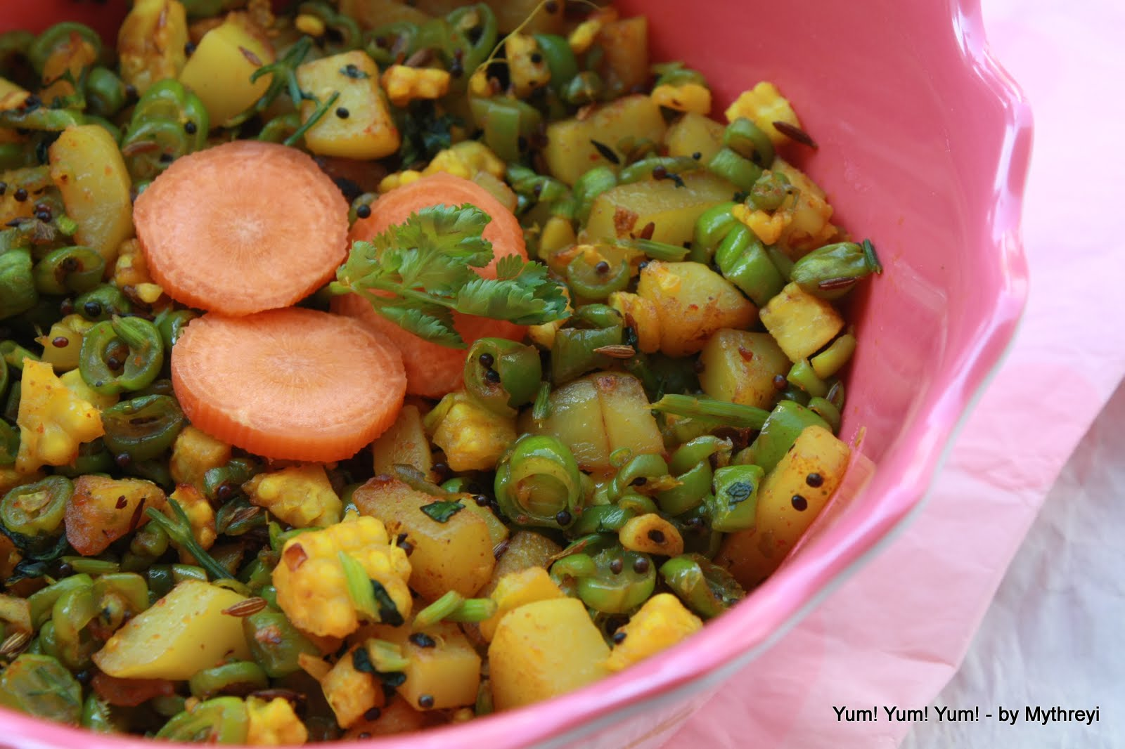 Yum! Yum! Yum!: Potato, Green Bean, Baby Corn Stir Fry - photo#35
