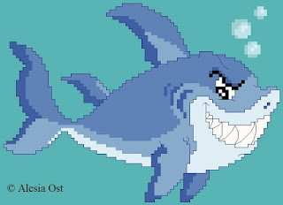 Free cross-stitch patterns, White Shark, shark, fish, sea, sea-patterns, clipart, cross-stitch, back stitch, cross-stitch scheme, free pattern, x-stitchmagic.blogspot.it, вышивка крестиком, бесплатная схема, punto croce, schemi punto croce gratis, DMC, blocks, symbols, patrones punto de cruz, #crossstitch_pattern, #crossstitch