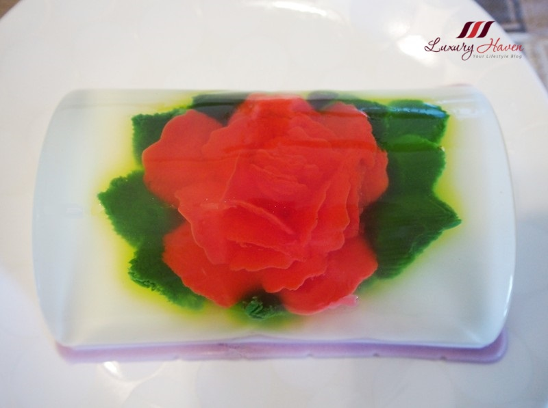 food art 3d rose flower art dessert