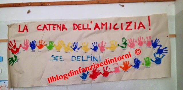 Il blog d 39 infanzia e dintorni la catena dell 39 amicizia for Cartelloni di natale per la scuola dell infanzia