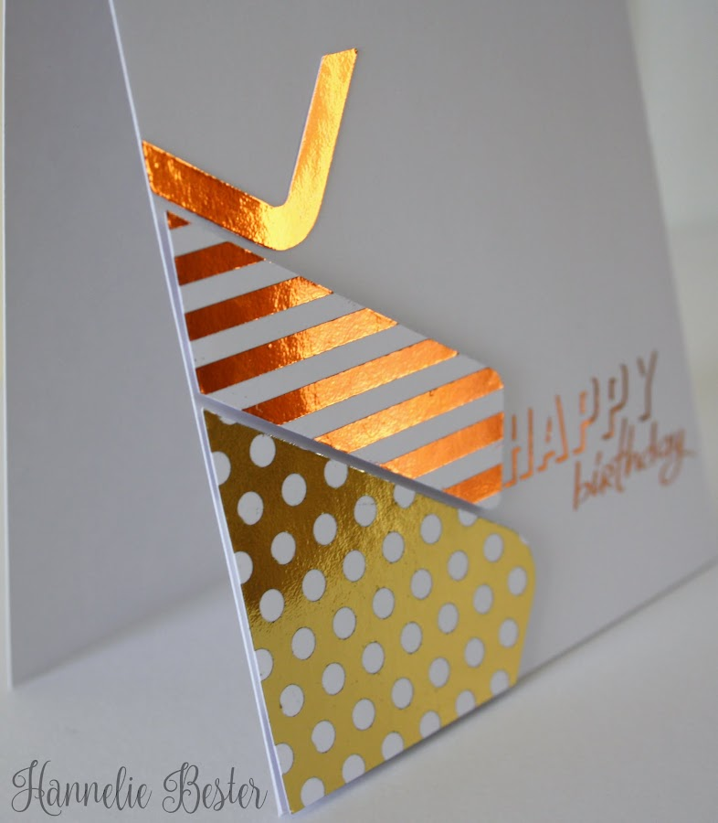 Decofoil happy birthday card