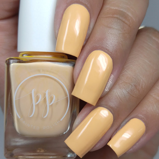 Painted Polish - Stamped in Peach