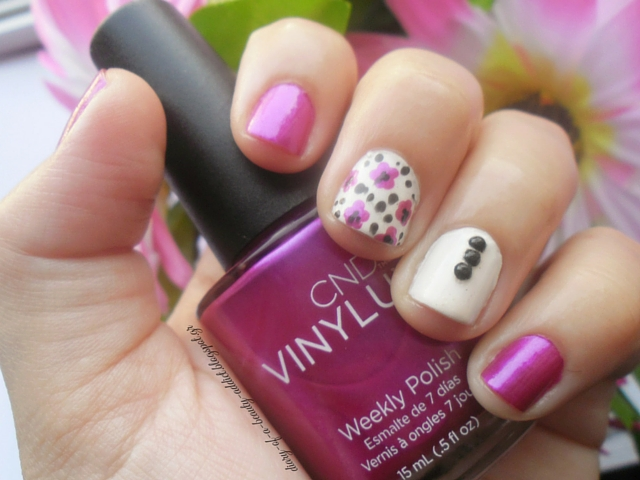 CND VINYLUX Magenta Mischief : Spring Nail Art