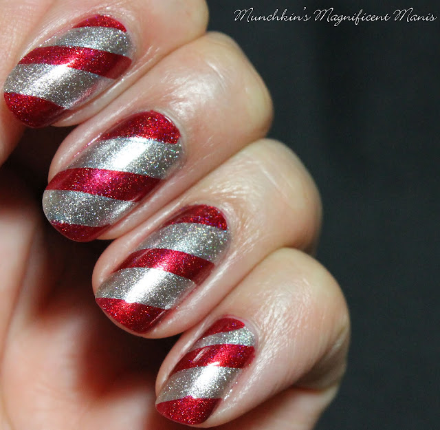 Candy Cane Nail Design