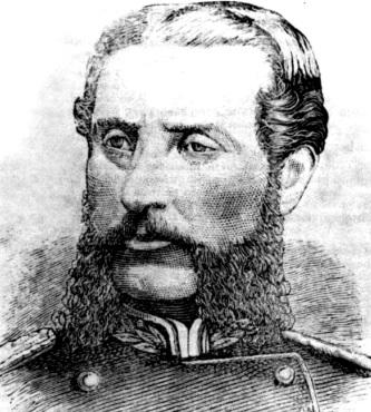 Rostro de Andrés Avelino Cáceres con barba