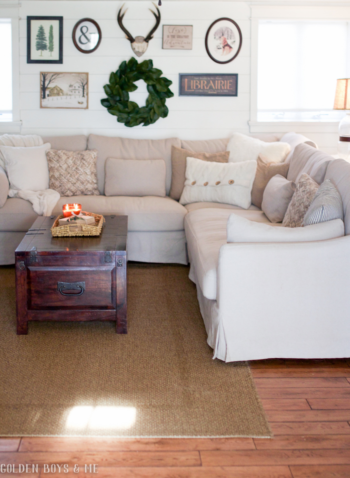 pottery barn sofa review accessories suppliers golden boys and me: a new sectional for our family room ...