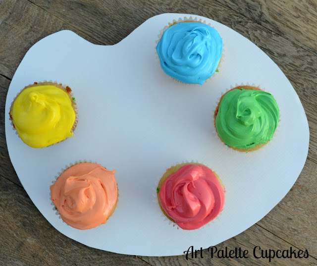 art palette cupcakes