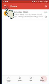 Cara masuk dan menambah akun Gmail di Android 2