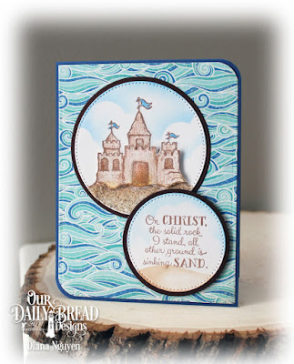 Our Daily Bread Designs Stamp Set: Sending You Sunshine, Our Daily Bread Desigs Paper Collection: By the Shore, Our Daily Bread Designs Custom Dies: Circles, Pierced Circles
