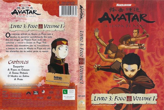 Capa DVD AVATAR A LENDA DE AANG LIVRO 3: FOGO VOLUME 1