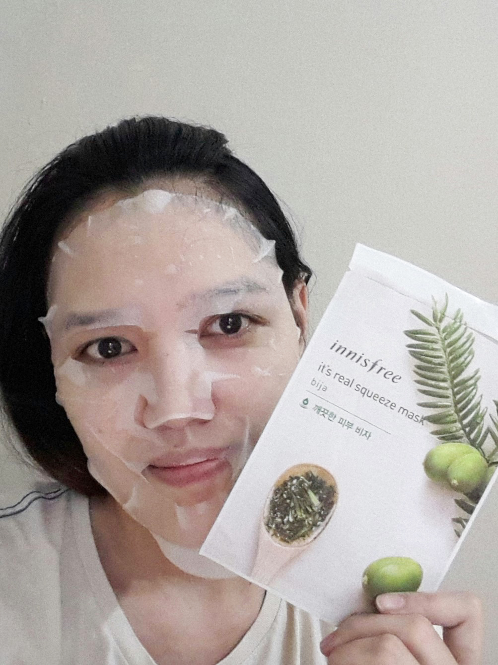 Curious About Beauty Travel And Life Review Innisfree Its Real Squeeze Mask Bija 20ml The Solution Is After 30 Minutes I Can Feel My Face Soft Moisturized Maybe From Aloe Vera But Theres Nothing Happened