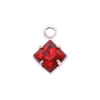 Swarovski Xilion Square Fancy Crystal (Garnet - JANUARY)