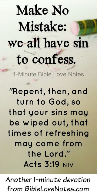 Repentance, confession, Acts 3:19