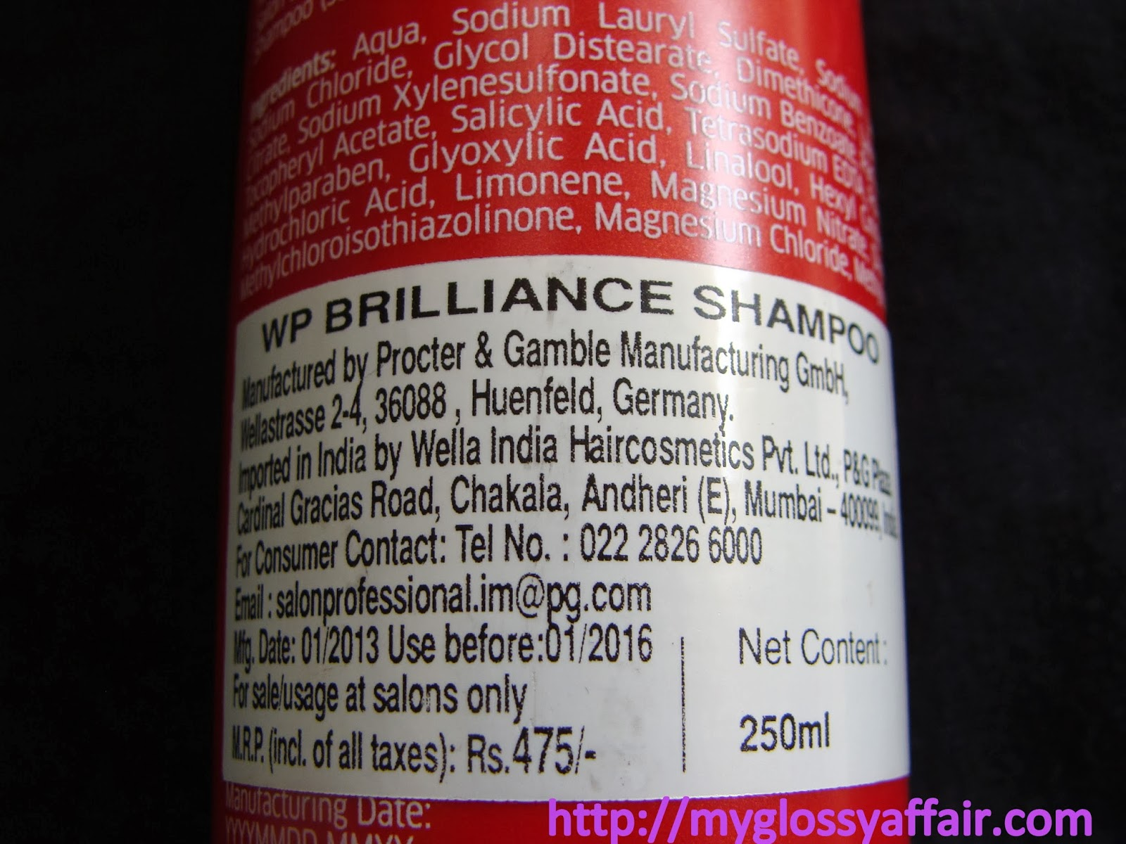 Wella Professionals Brilliance - Shampoo for Coloured Hair - Review