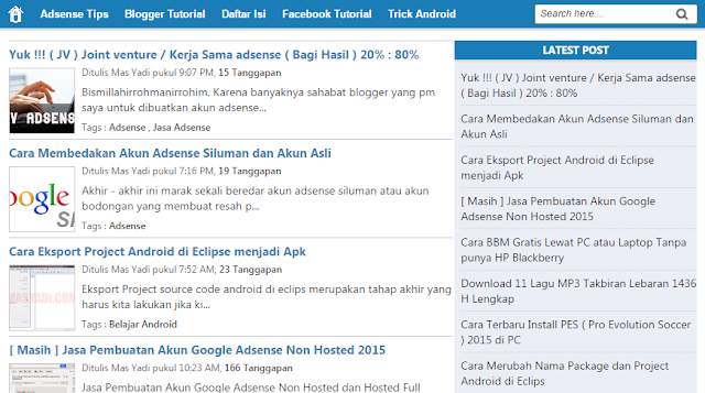 "Template Blogger paling laris manis ""Simple Sense"" Respoinsive Hight CTR"