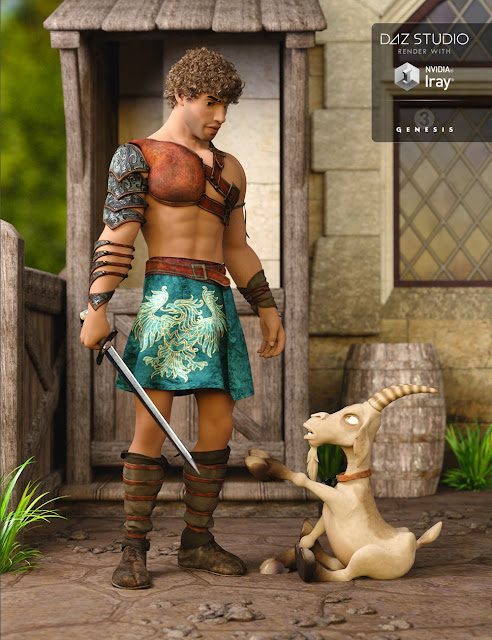 Leather Warrior for Genesis 3 Male