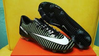 Nike Mercurial Vapor XI Hitam list Putih