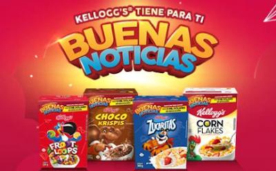 Sorteo Kelloggs, gana S/4,000 y productos de la marca