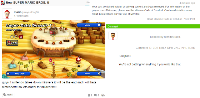 Miiverse post hate bullying dumb kid spelling errors Nintendo children