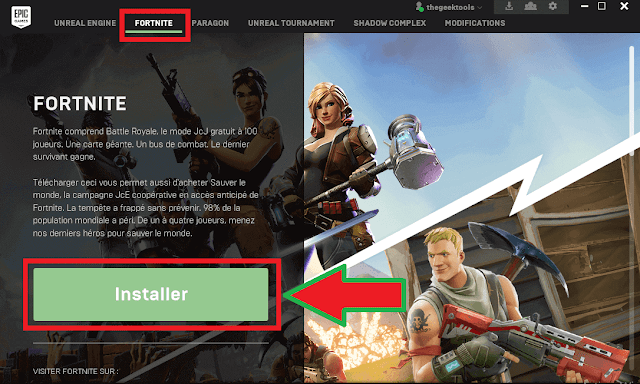 لعب Fortnite Battle Royale بالمجان
