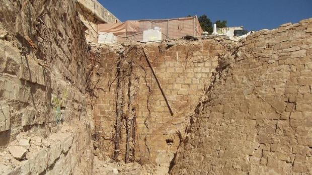 Ancient fortification wall unearthed in Valletta ditch