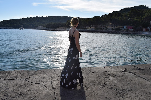 Sunset Milna maxi dress summer picture floral hvar