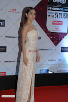 Nushrat Bharucha Looks stunning in a deep neck leg Split cream designer gown stunning beauty ~  Exclusive 008.JPG