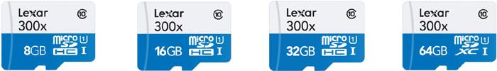 レキサー Lexar microSDHC/microSDXCカード「High-Performance 300x」