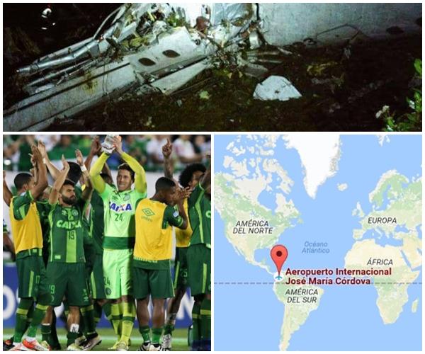 Tragedia aérea  Colombia, viajaba equipo de Brasil Chapecoense