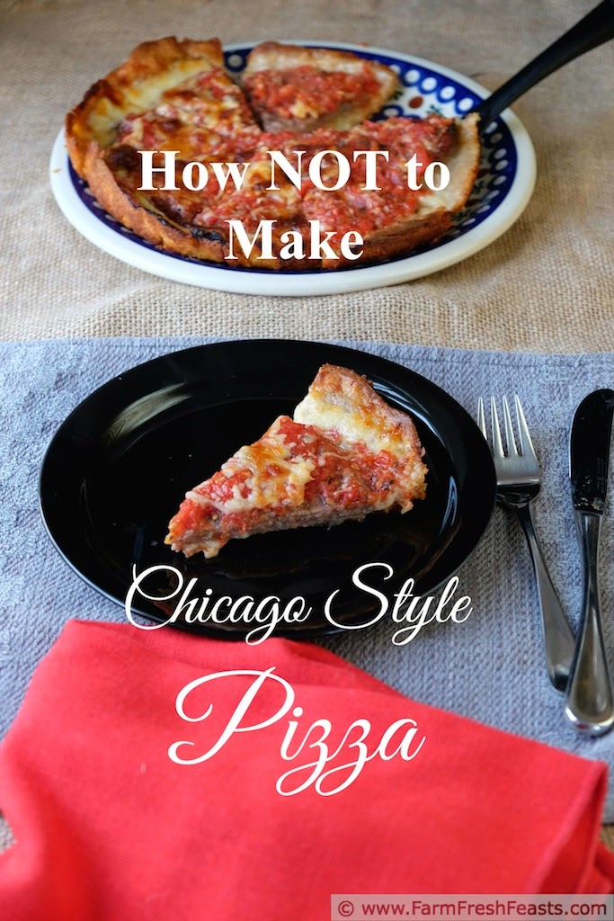 {How Not to Make} Lou Malnati's Chicago Classic Deep Dish Pizza, packed with sausage and cheese and flavorful tomato sauce.