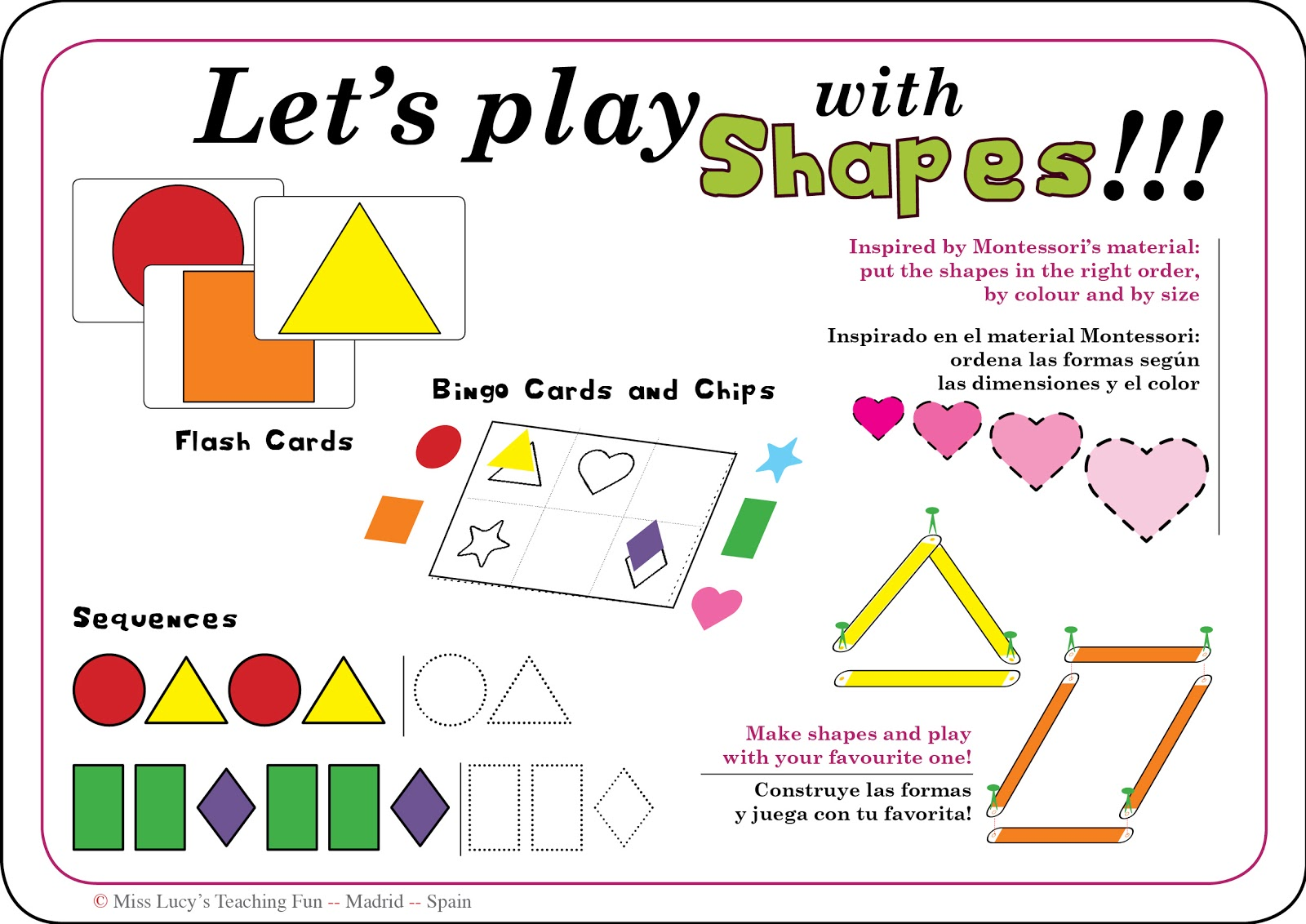 Miss Lucy S Teaching Fun Shapes For Toddlers