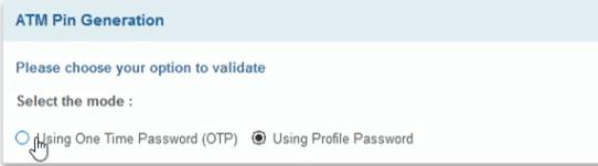 OTP vs profile password