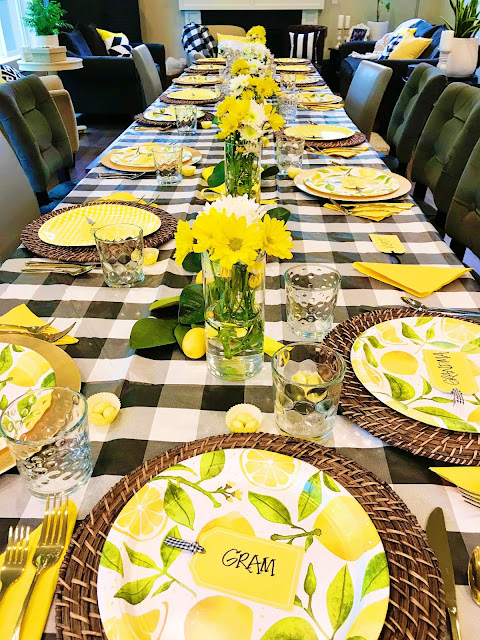 Lemon themed table @michellepaigeblogs.com