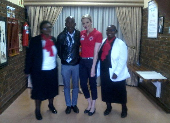 Princess Charlene of Monaco is currently in South Africa for a 5th day visit in connection with the South African Red Cross Society