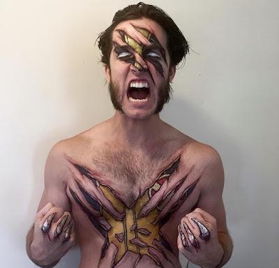 Bodypaint Wolverine.