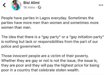 Bisi Alimi, Reacts To The Arrest Of 57 Suspected Homosexuals