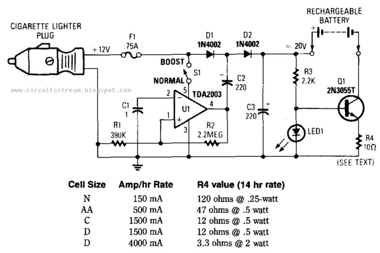Electronic12Vdc Mobile Battery Charger Circuit Diagram Electronic