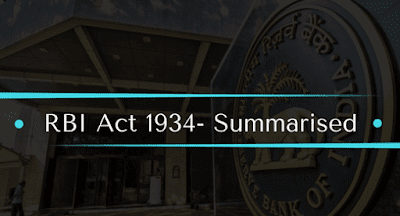 RBI Act 1934- Summarised