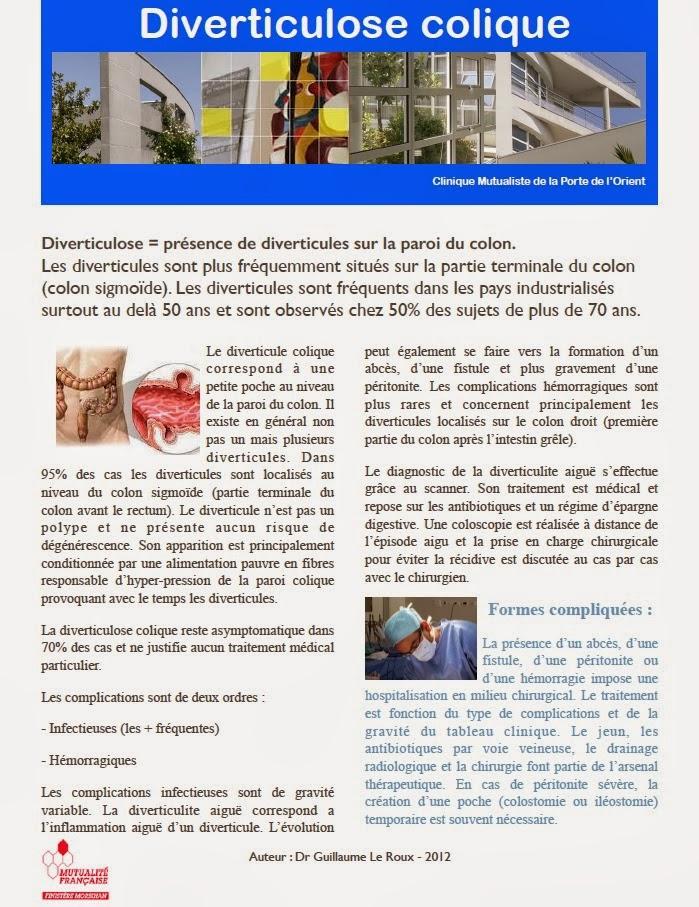 Chirurgie digestive et hepato biliaire diverticulose colique - Clinique mutualiste de la porte de l orient ...