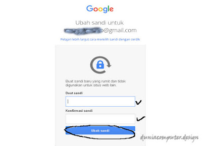 cara merubah password gmail android