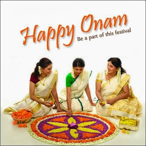 Onam 2014 sms text mesasage wishes in Malyalam English with gif animated images picture HD wallpaper and Greetings cards