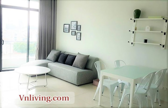 Living room 1 bedrooms for rent in City Garden highfloor city center and swimming pool view